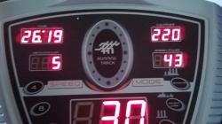 Day one. 5 laps = 2 km