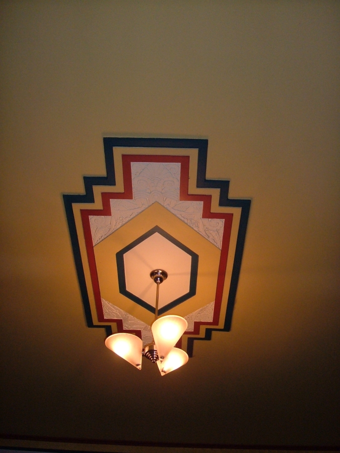 Art deco lighting - at a pub in Seymour