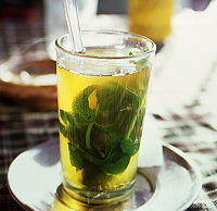 Moroccan mint tea, also called Tuareg tea, or Mint tea or Maghrebi mint tea