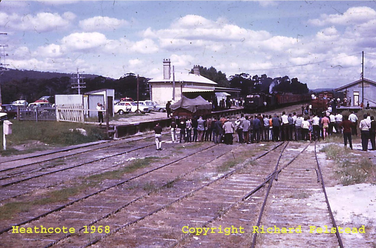 Railway_Heathcote Station with Train 1968