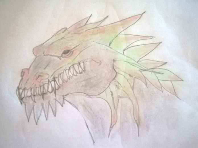 chalked dragon head