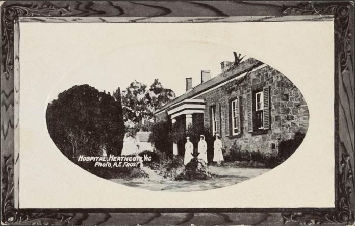 postcard, c 1916, Heathcote Hospital, Victoria